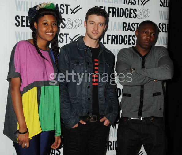VV Brown at the Westfield with Justin Timberlake