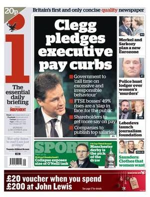Clegg pledges executive pay