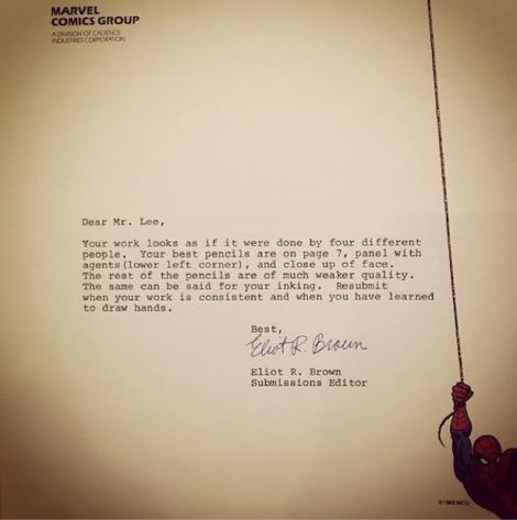 jim lee rejection letter