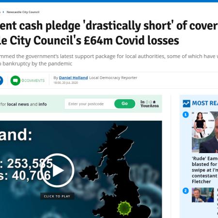 Government Newcastle brankrupt 2020